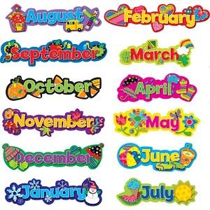 十二个月的英语说法和缩写形式